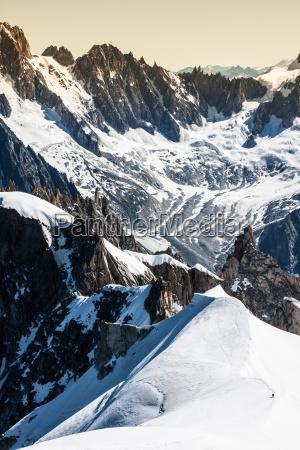blick auf die alpen von der