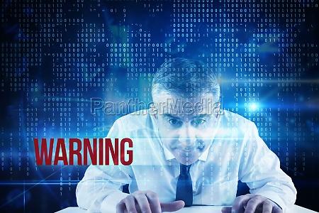 warnung vor blau technologie schnittstelle mit
