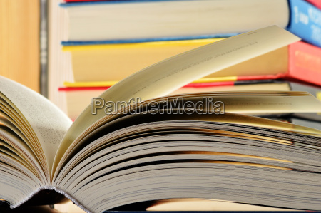 composition with hardcover books in the