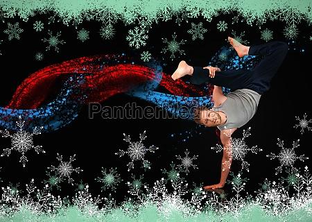 breakdancer zeigt seine agilitaet und balance