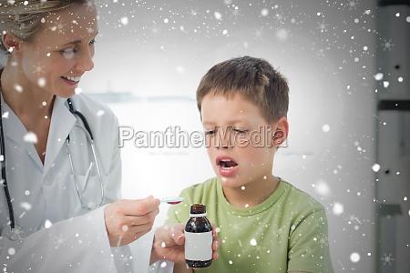 doktor der kleine junge hustensaft