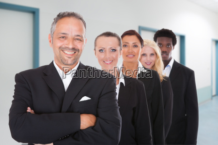 multi racial group of business people