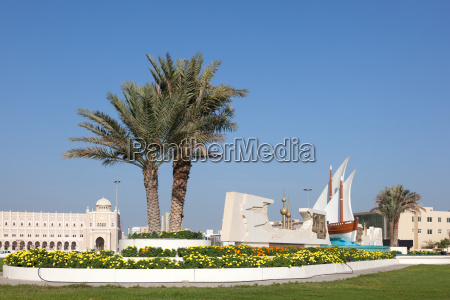 kuwait roundabout in sharjah city united