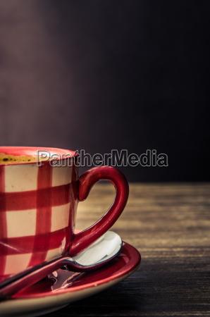vintage stil detail der kaffeetasse auf