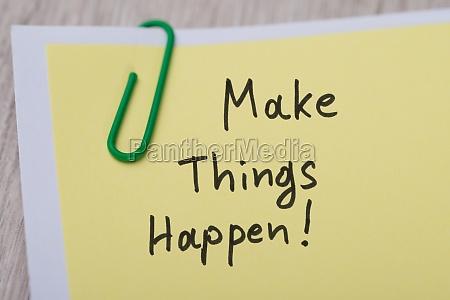 make things happen written on