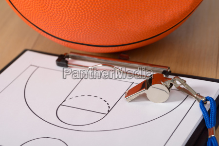 whistle and basketball tactics on paper