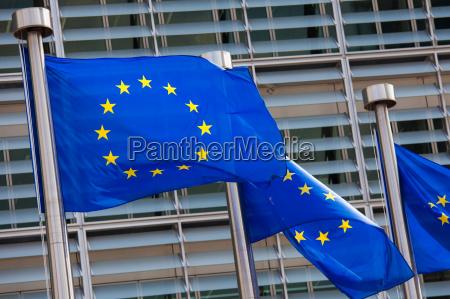caucasico europeo europa bandiera bruxelles sindacato