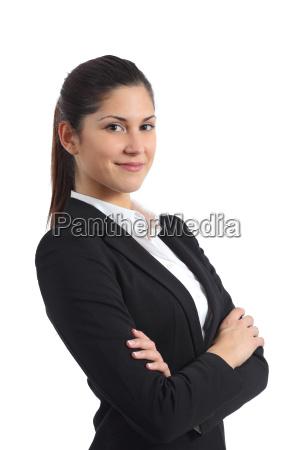 portraet einer selbstbewussten geschaeftsfrau