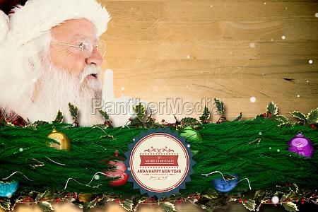 zusammengesetztes bild von santa claus das