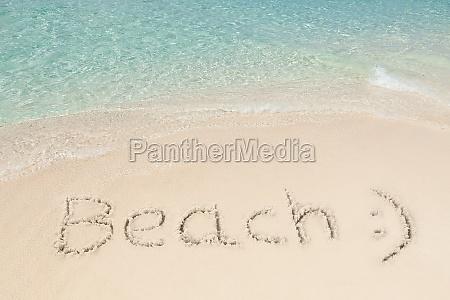 ruhige aussicht am strand