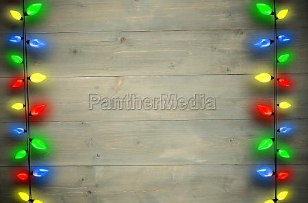 composite bild von dekorativen leuchten in