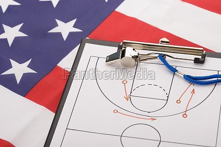 basketball taktik auf ein blatt papier