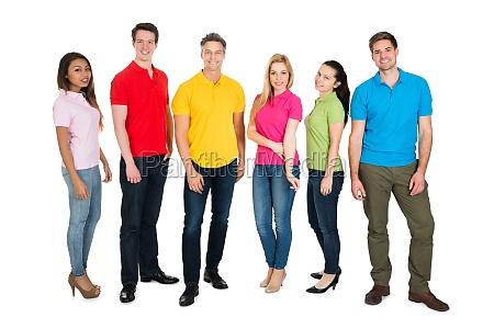 multiethnic menschengruppe