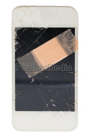 mobile phone with bandage