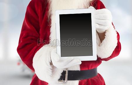 composite bild von santa claus zeigt