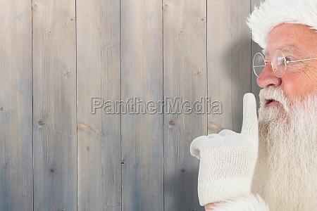 composite bild von santa claus macht