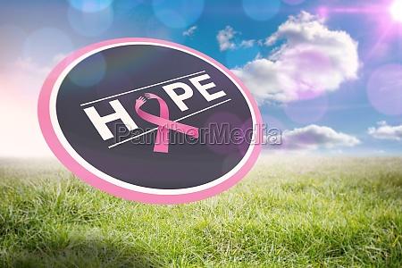 composite bild von brustkrebs bewusstseins nachricht