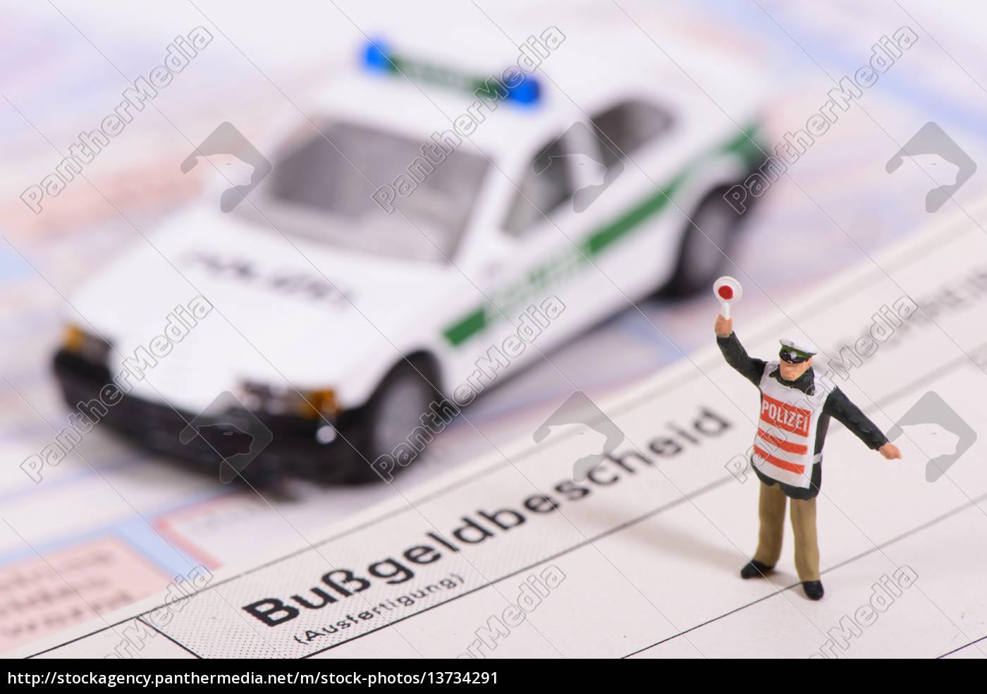 bußgeldbescheid, bei, verkehrskontrolle - 13734291
