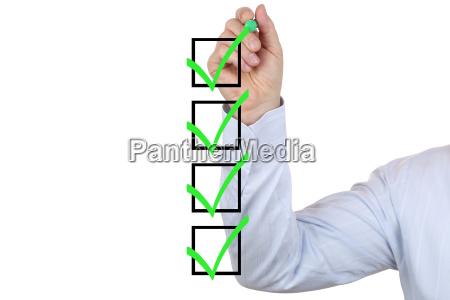 businessman writing a business success concept