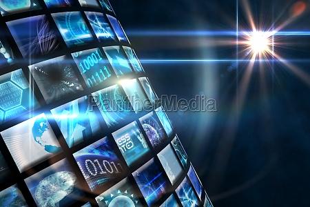 die kurve von digitalen bildschirmen in
