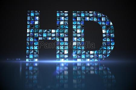 hd von digitalen bildschirmen in blau