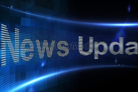 news update auf digitalen bildschirm