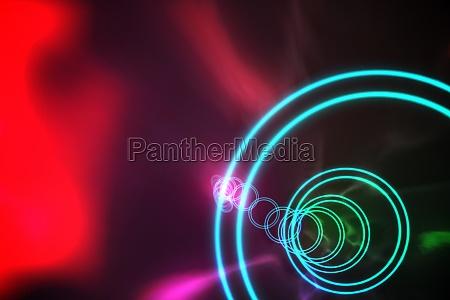 bunte spirale mit rotem glanz