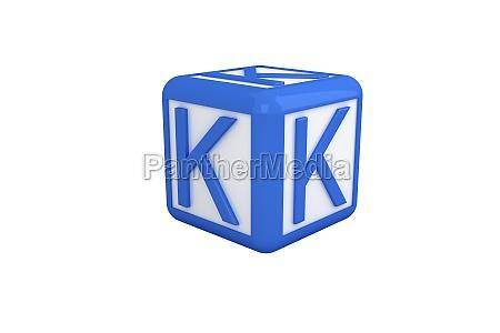 k blauer und weisser block