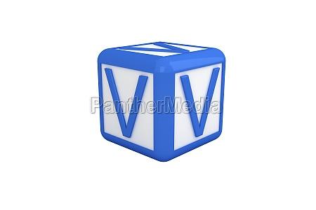v blau und weiss blocks