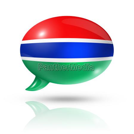 gambische flagge sprechblase