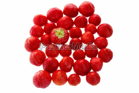 big strawberry standing out from the