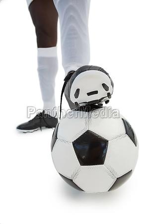 football spieler mit dem ball