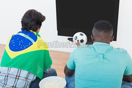 fans brasilianischen fussball vor dem fernseher