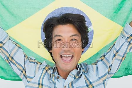 brasilianischen fussball fan jubel