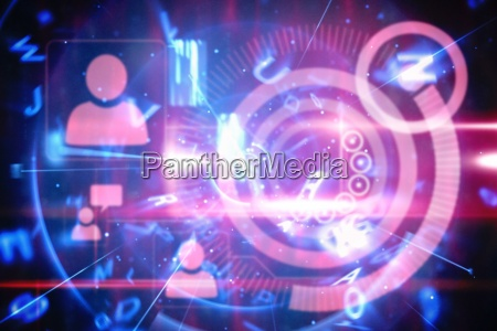 blaue und rote technologie schnittstelle