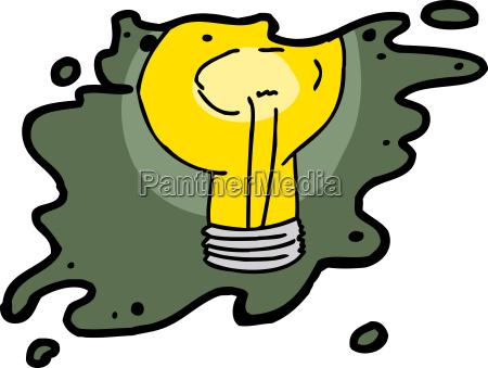 isolated splattered light bulb