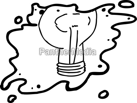 cartoon light bulb outline