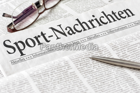 newspaper with the headline sports news