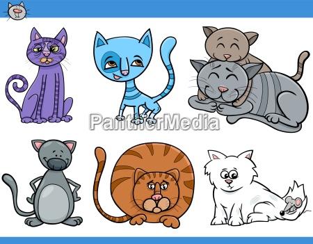 cats set cartoon illustration
