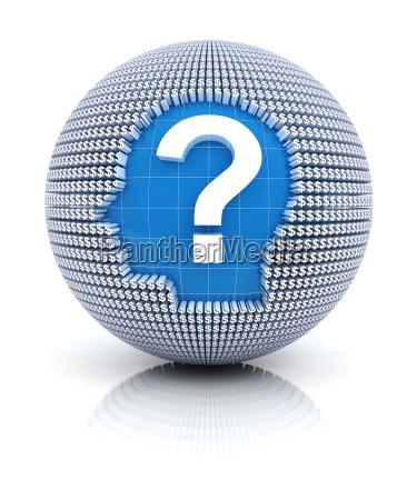 finanzielle fragen symbol auf dem globus