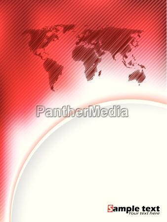 gestreifte rote broschuere design mit gekritzelt