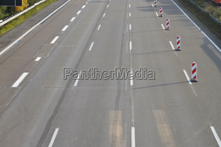 empty swept eight lane highway