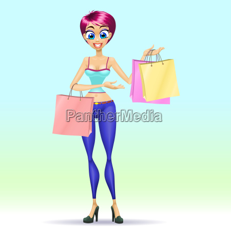 shopping maedchen