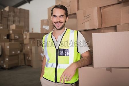 portrait des arbeiters im lager