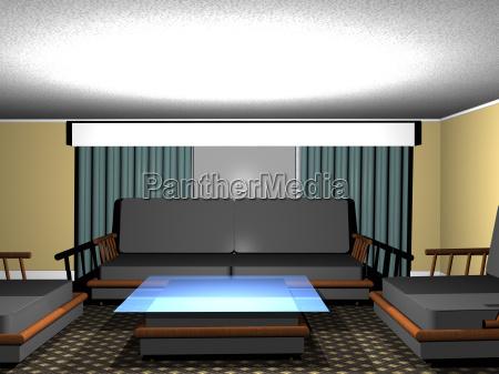 wohnzimmer mit sitzmoebeln