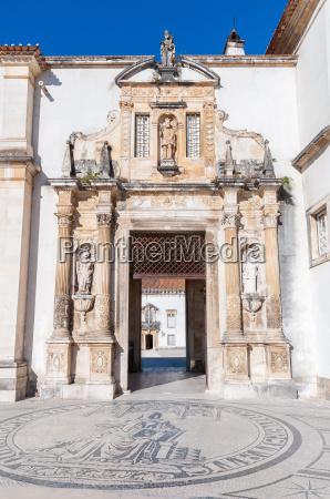 entrance to coimbra university
