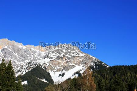 winter oesterreich berg in den alpen