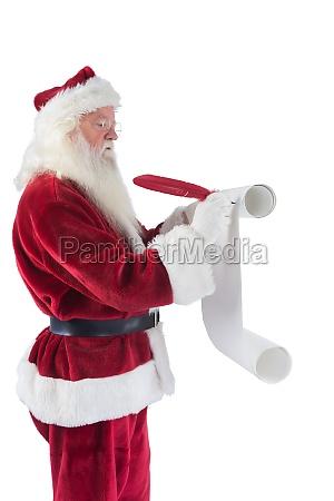 der weihnachtsmann schreibt eine liste
