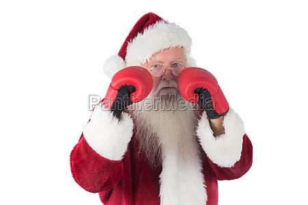 weihnachtsmann ist bereit zu kaempfen
