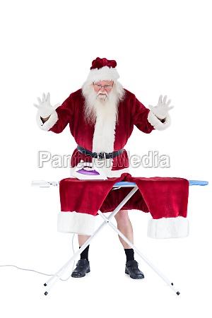 der weihnachtsmann ist beeindruckt von etwas
